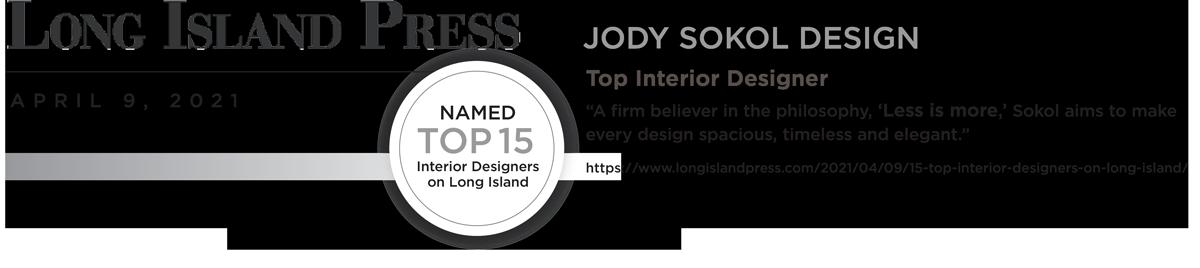 Jody Sokol top 15 designer